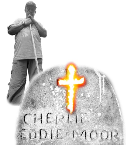 Thomas with Charles Moore Grave