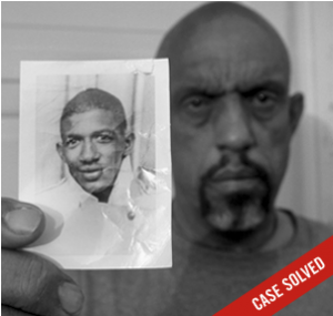 Thomas Moore holds one of the only pictures of his brother Charles Moore who was kidnapped, beaten and brutally murdered by members of the White Knights of the Ku Klux Klan along with his friend Henry Dee on May 2, 1964 after being picked up hitchhiking in Meadville, MS.