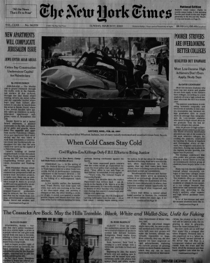 When cold cases stay cold NYT March 17 2013 #1 copy